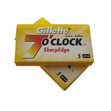 Pack of 5 Gillette 7 o'clock Sharp Edge Razor Blades