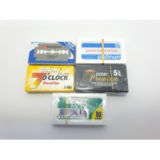Double Edge Razor Blade Sampler Pack - 40 Blades