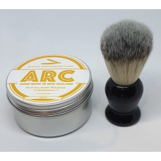 ARC Citrus Shaving Soap and Black Handle Light Synthetic Brush Set