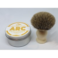ARC Luxury Shaving Soap and Badger Hair Shaving Brush Gift Set