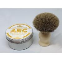 ARC Luxury Shaving Soap and Badger Hair Shaving Brush Gift Set