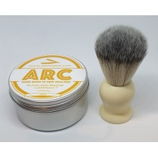 ARC Citrus Shaving Soap and Cream Handle Light Synthetic Brush Set