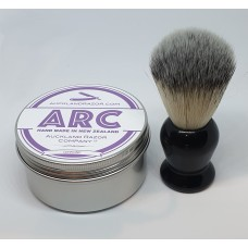 ARC Lavender Shaving Soap and Black Handle Light Synthetic Brush Set