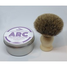 ARC Lavender Shaving Soap and Cream Handle Silvertip Badger Brush Set