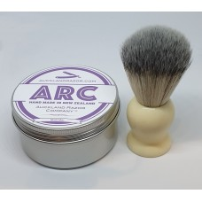 ARC Lavender Shaving Soap and Cream Handle Light Synthetic Brush Set