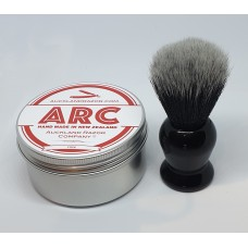 ARC Rose Shaving Soap and Black Handle dark Synthetic Brush Set