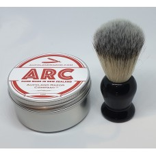 ARC Rose Shaving Soap and Black Handle light Synthetic Brush Set