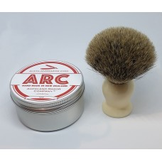 ARC Rose Shaving Soap and Cream Handle Silvertip Badger Brush Set