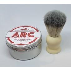 ARC Rose Shaving Soap and Cream Handle light Synthetic Brush Set