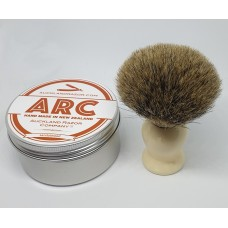ARC Sandalwood Shaving Soap and Cream Handle Silvertip Badger Brush Set