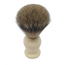 ARC Shaving Brush Faux Ivory (cream colour) handle Super Badger Hair