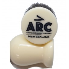 ARC Shaving Brush Faux Ivory (cream colour) handle Dark Colour Synthetic Hair
