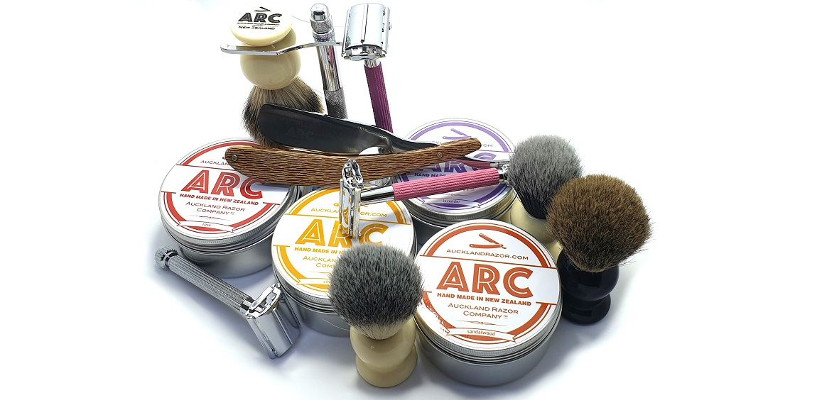 ARC Kiwi Concept Straight Razor, Soaps Brushes and Safety Razors
