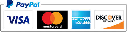 Paypal and payment card logos